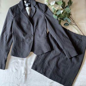 Grey Skirt- Blazer Set  Sz 0